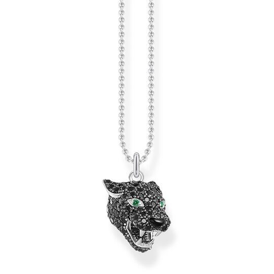 necklace Black cat from the Rebel at heart collection in the THOMAS SABO online store