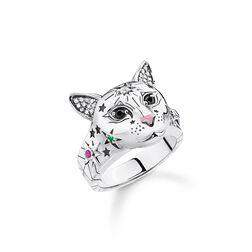 Ring Katze silber aus der Glam & Soul Kollektion im Online Shop von THOMAS SABO