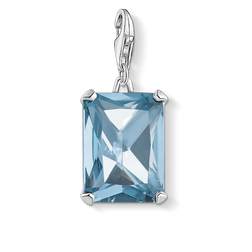 charm pendant large blue stone from the  collection in the THOMAS SABO online store
