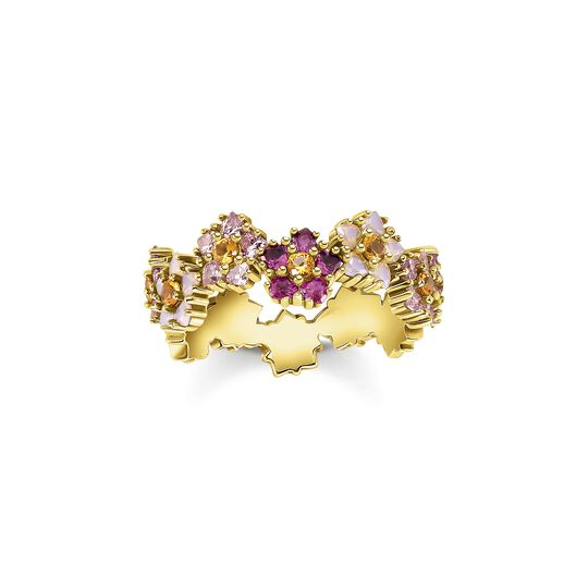 Ring flowers colourful stones gold from the  collection in the THOMAS SABO online store
