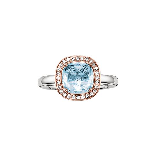solitair ring blue from the  collection in the THOMAS SABO online store