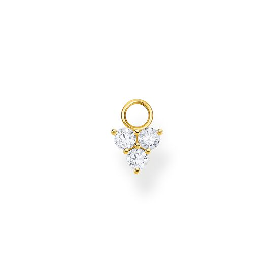 Single ear pendant white stones gold from the Charming Collection collection in the THOMAS SABO online store