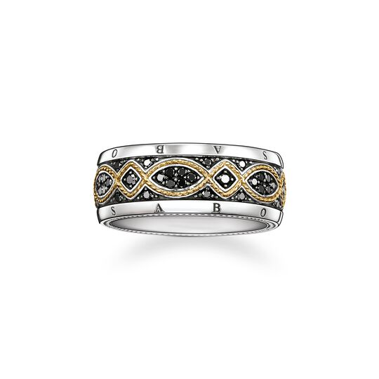 band ring diamond love knot from the  collection in the THOMAS SABO online store