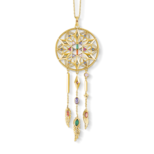 Pendant on chain dreamcatcher from the  collection in the THOMAS SABO online store