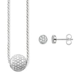 "Necklace & Ear studs ""White pavé"" from the Glam & Soul collection in the THOMAS SABO online store"