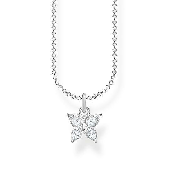 Necklace butterfly white stones from the Charming Collection collection in the THOMAS SABO online store