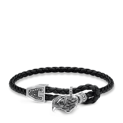 "leather strap ""falcon"" from the Rebel at heart collection in the THOMAS SABO online store"