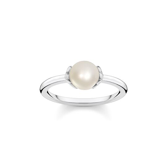 Ring pearl with stars from the  collection in the THOMAS SABO online store