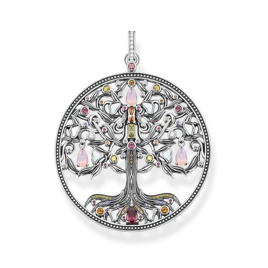Pendant tree of love silver colourful stones from the  collection in the THOMAS SABO online store