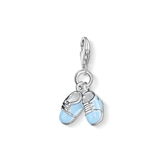 pendentif Charm chaussures bébé bleu de la collection Charm Club dans la boutique en ligne de THOMAS SABO