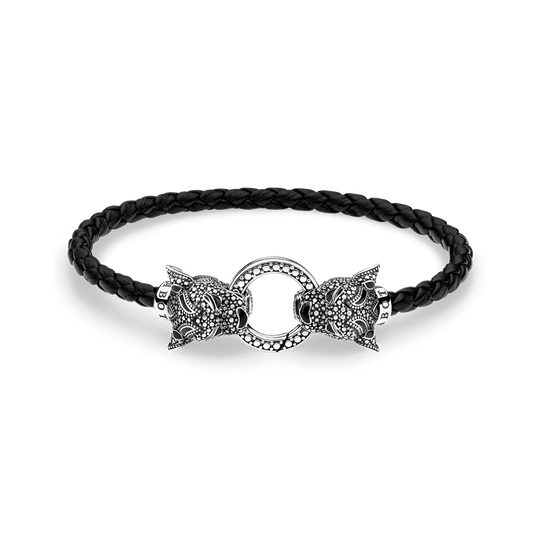 Lederarmband Black Cat aus der Rebel at heart Kollektion im Online Shop von THOMAS SABO