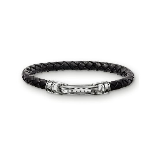 leather bracelet black from the  collection in the THOMAS SABO online store