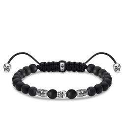 bracelet black skull from the Rebel at heart collection in the THOMAS SABO online store