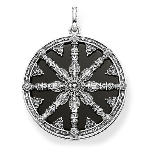 """pendentif """"Karma Wheel noire avec diamant"""" de la collection Glam & Soul dans la boutique en ligne de THOMAS SABO"""