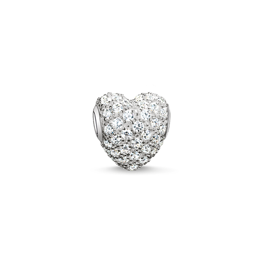 Bead white pavé heart from the Karma Beads collection in the THOMAS SABO online store