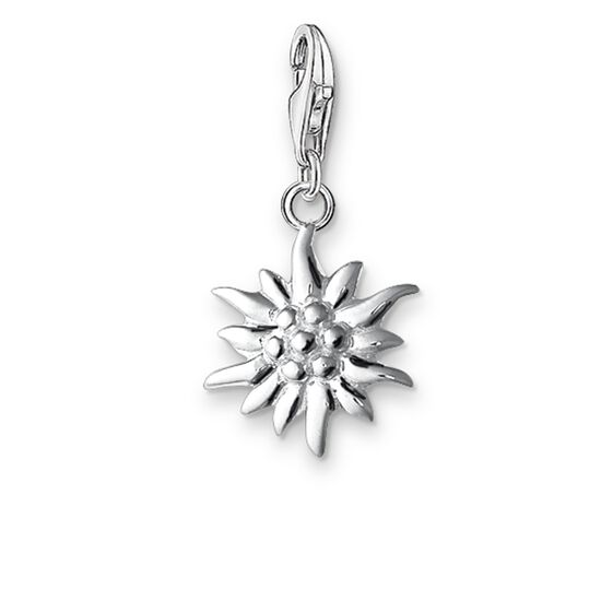 "Charm pendant ""edelweiss"" from the  collection in the THOMAS SABO online store"