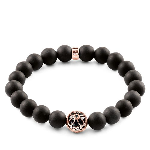 """bracelet """"black lotus flower"""" from the Glam & Soul collection in the THOMAS SABO online store"""