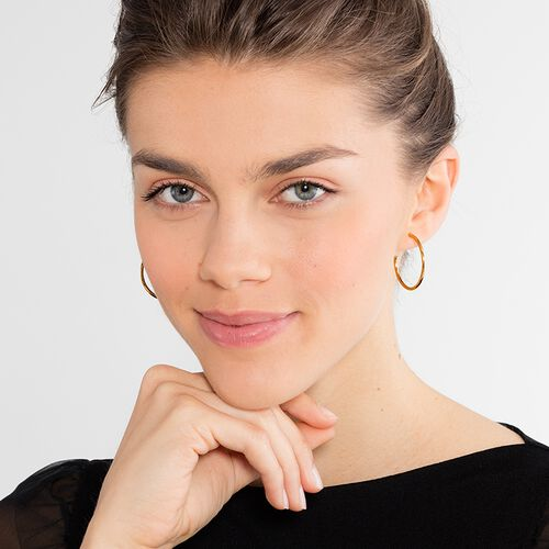 "hoop earrings for Beads ""medium"" from the Karma Beads collection in the THOMAS SABO online store"