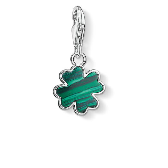 Charm pendant green cloverleaf from the Charm Club collection in the THOMAS SABO online store