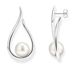 earrings Heritage with silver-coloured pearl from the Glam & Soul collection in the THOMAS SABO online store