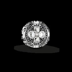 Bead fleur noire diamant icy  de la collection Karma Beads dans la boutique en ligne de THOMAS SABO
