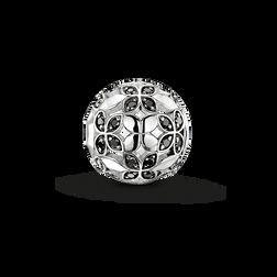 Bead feuille de lotus noire de la collection Karma Beads dans la boutique en ligne de THOMAS SABO