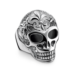 ring lily skull from the Rebel at heart collection in the THOMAS SABO online store
