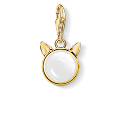charm pendant cat's ears, gold from the  collection in the THOMAS SABO online store