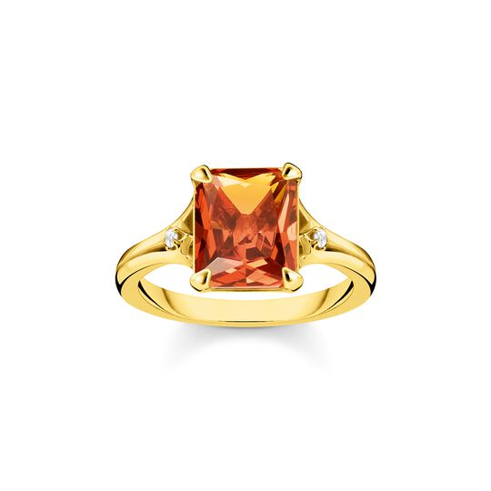 Ring orange stone from the  collection in the THOMAS SABO online store