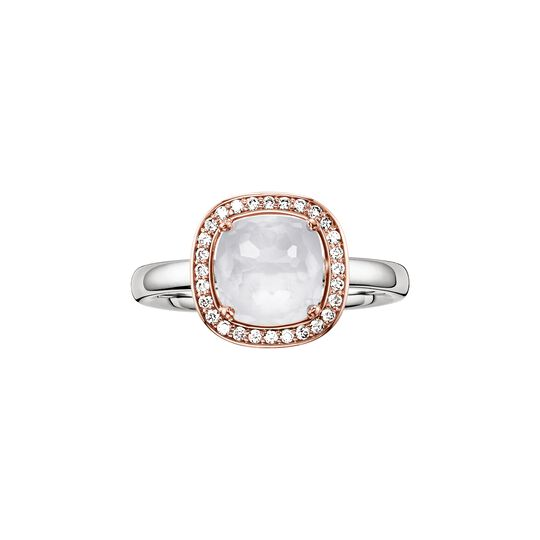 solitair ring white from the  collection in the THOMAS SABO online store