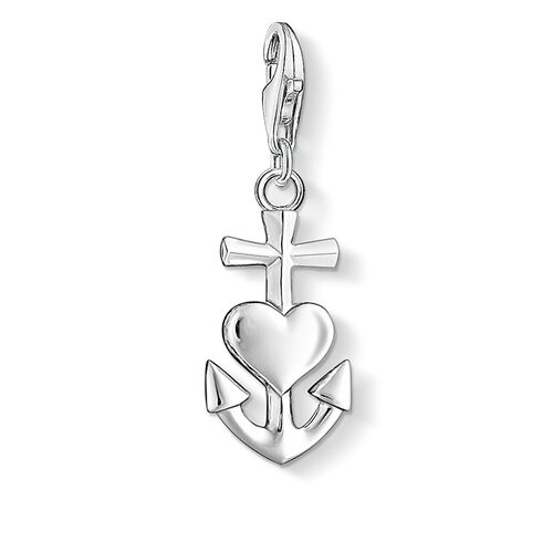 """Charm pendant """"cross, heart, anchor"""" from the  collection in the THOMAS SABO online store"""