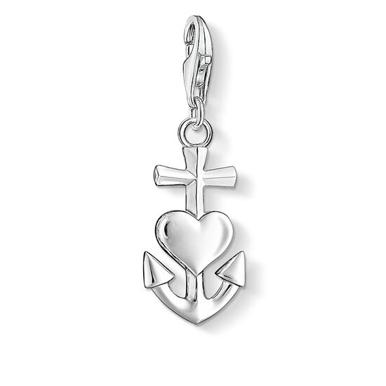 "ciondolo Charm ""croce, cuore, ancora"" from the  collection in the THOMAS SABO online store"
