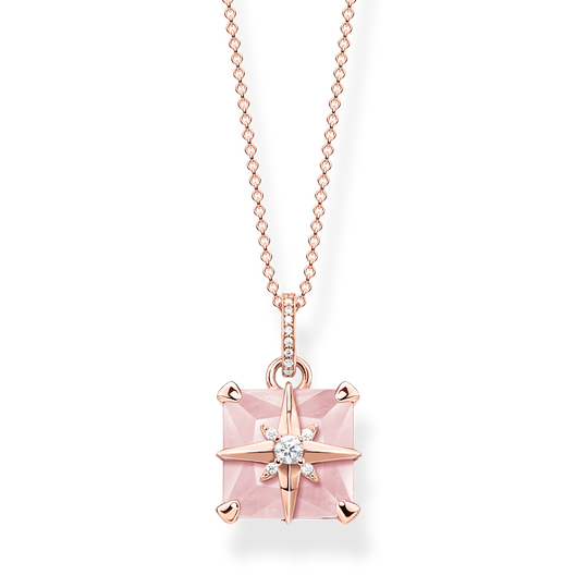 necklace pink stone with star from the Glam & Soul collection in the THOMAS SABO online store