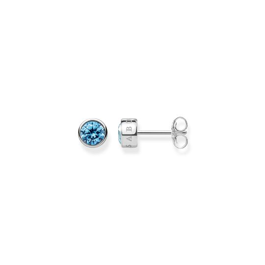 ear studs light blue stone from the  collection in the THOMAS SABO online store