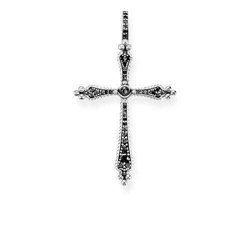 """colgante """"Cruz Royalty piedras negras"""" de la colección Glam & Soul en la tienda online de THOMAS SABO"""