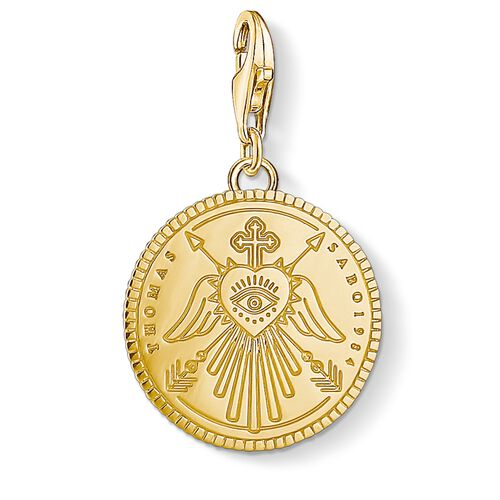 """Charm-Anhänger """"Coin gold"""" aus der  Kollektion im Online Shop von THOMAS SABO"""
