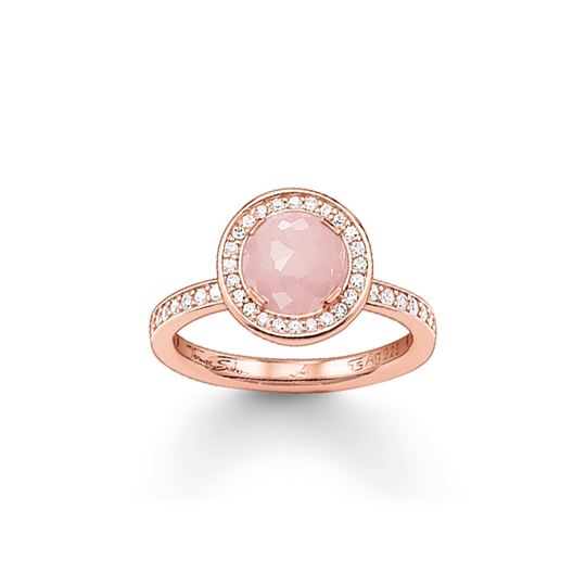 solitaire ring light of luna pink from the Glam & Soul collection in the THOMAS SABO online store