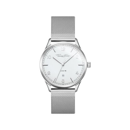 Watch unisex CODE TS silver white from the  collection in the THOMAS SABO online store
