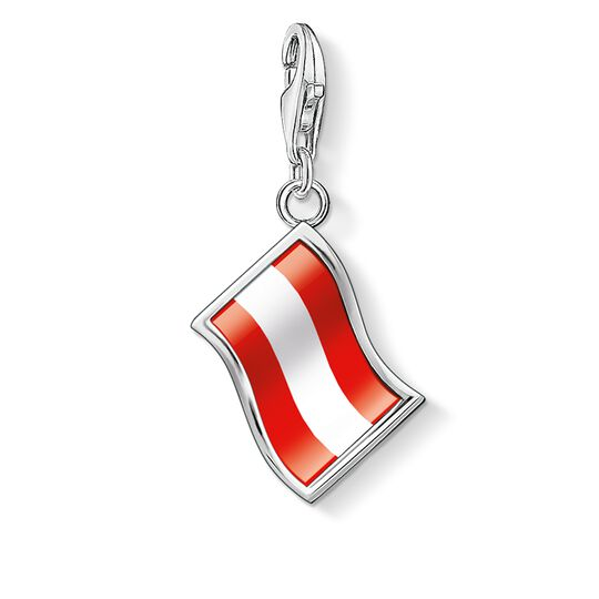 Charm pendant flag Austria from the  collection in the THOMAS SABO online store
