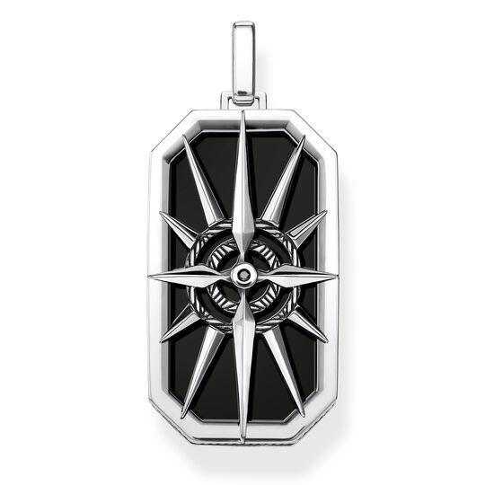 pendant compass star black from the Rebel at heart collection in the THOMAS SABO online store