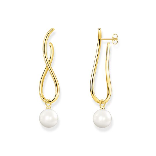 earrings Heritage with gold-coloured pearl from the  collection in the THOMAS SABO online store