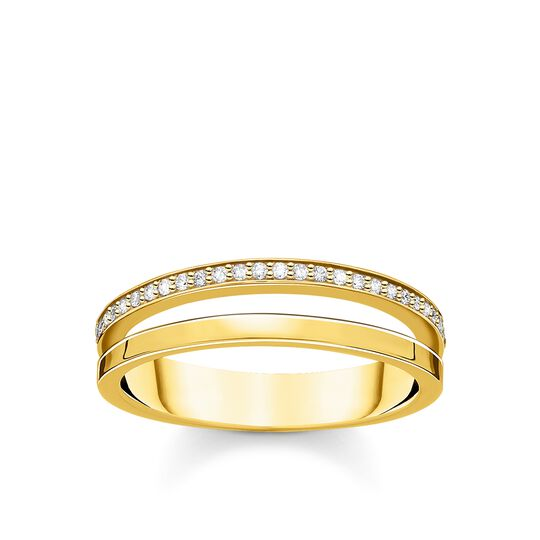 Ring double white stones gold from the Charming Collection collection in the THOMAS SABO online store