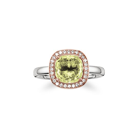 solitair ring green from the  collection in the THOMAS SABO online store