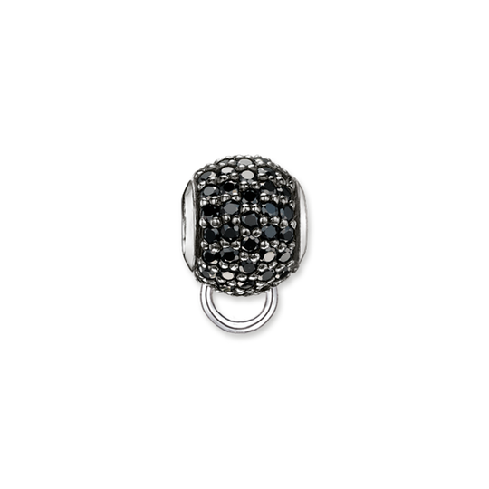 carrier black pavé from the Karma Beads collection in the THOMAS SABO online store
