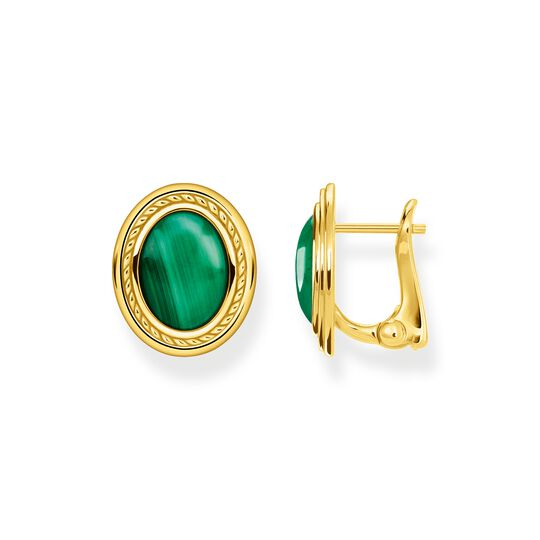 Ear studs green stone gold from the  collection in the THOMAS SABO online store