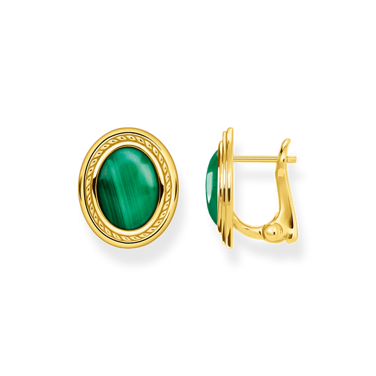 Ear studs green stone gold from the Glam & Soul collection in the THOMAS SABO online store