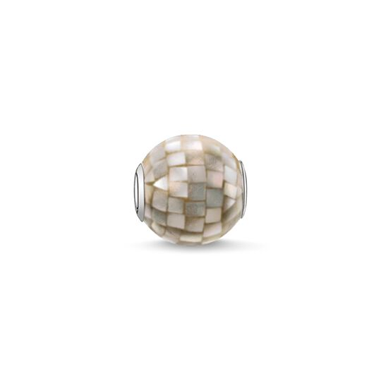Bead grey mother-of-pearl from the Karma Beads collection in the THOMAS SABO online store