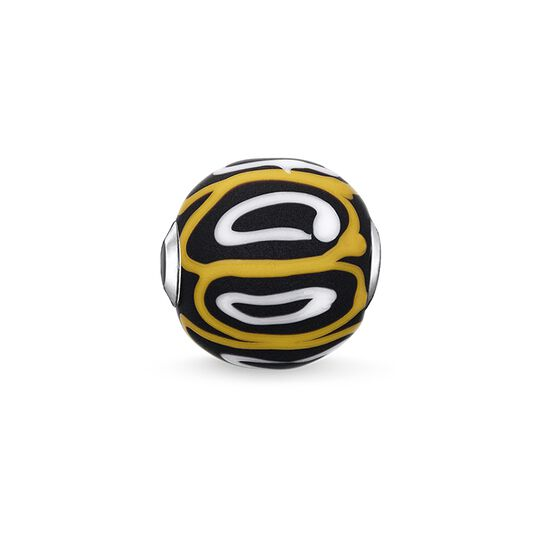 "Bead ""Glass Bead Yellow, white, black"" from the Karma Beads collection in the THOMAS SABO online store"