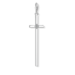 Charm pendant Silver cross from the Charm Club Collection collection in the THOMAS SABO online store