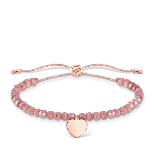 Bracelet pink pearls heart rose gold from the Charming Collection collection in the THOMAS SABO online store
